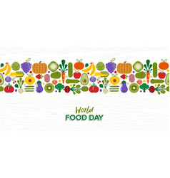food day pattern card vegetables and fruit vector image