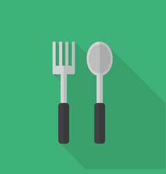 fork and spoon icon set of great flat icons with vector image