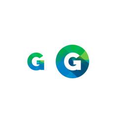 g letter pixel logo icon design vector image