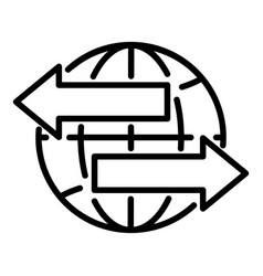 Global export icon outline style vector