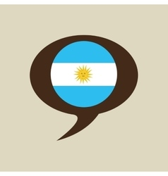 globe sphere flag argentina country button graphic vector image
