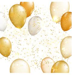 Gold balloon background vector