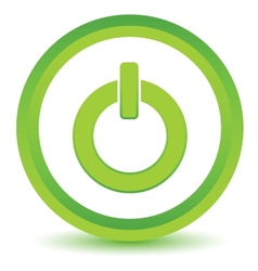 Green power icon vector