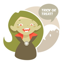 Halloween little vampire vector image