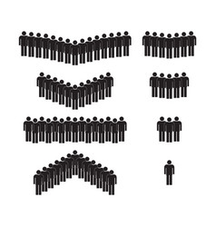 icon people group male person silhouette of vector image