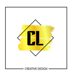 Initial letter cl logo template design vector