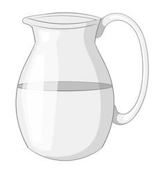 Jug of milk icon monochrome vector
