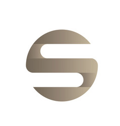 letter s icon logo vector image