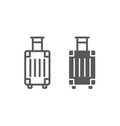 luggage line and glyph icon travel and tourism vector image