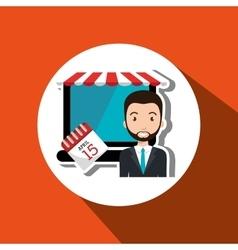 Man store mark online vector