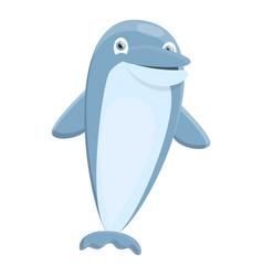 marine dolphin icon cartoon style vector image
