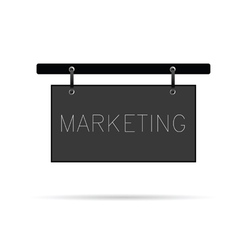 marketing signboard wood vector image