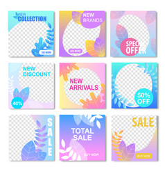 new brand discount arrival banner social media vector image