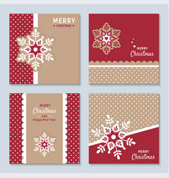 New year and christmas set with decorative vector