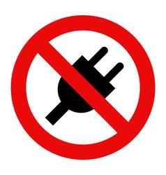 No plug icon vector image