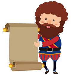 Noble man with blank paper vector
