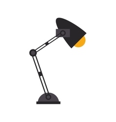 Office desk lamp light icon vector
