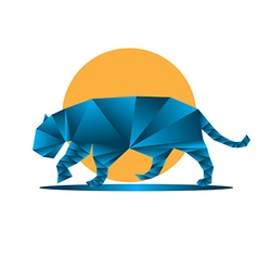 Origami jaguar vector image