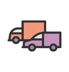 Parked Trucks vector