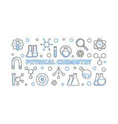 physical chemistry concept outline horizontal vector image