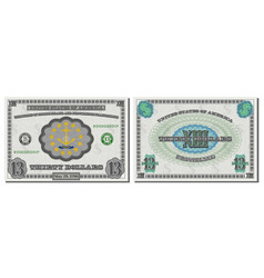 protective guilloche mesh fictional 13 us dollars vector image
