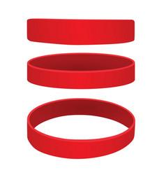 Red bracelet vector