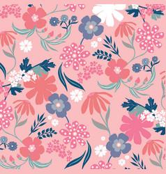 retro floral love vector image