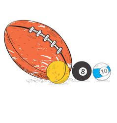 retro styled sport balls vector image