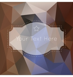 Retro vintage polygonal background vector image