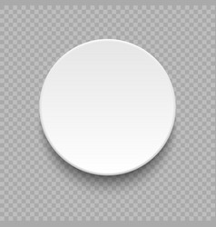 round empty plate vector image