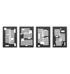 set hand painted black and white wall arts vector image