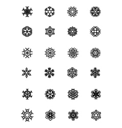 SnowFlakes Icons 2 vector image