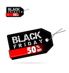 tag of black friday discount offer design vector image vector image