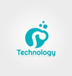 Technology logo design vector