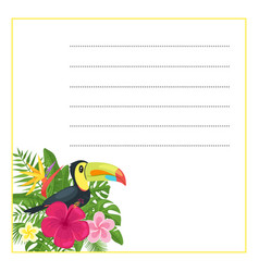 template for notebook vector image