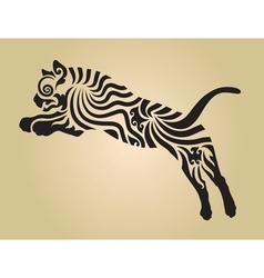 tiger ornament decoration 4 vector image