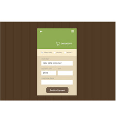 ui for web and mobile vector image vector image