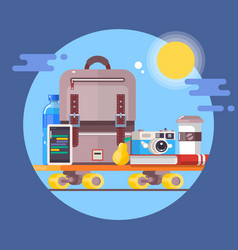 vacation travelling conceptsummer vacations vector image