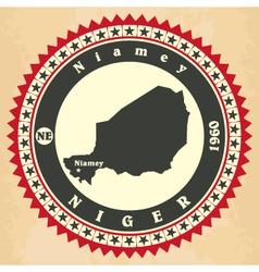 Vintage label-sticker cards of Niger vector