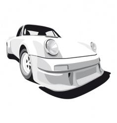 White sport car vector