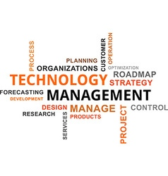 Word cloud technology management vector