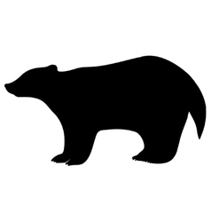 badger silhouette vector image vector image