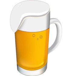 Beer glass on a white background vector image vector image