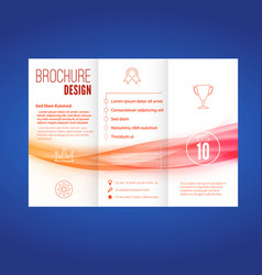 bright wave pattern abstract brochure layout vector image vector image