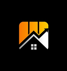 business finance house arrow logo vector image
