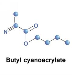 Butyl cyanoacrylate ester vector image