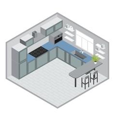 Isometric Kitchen Design vector image