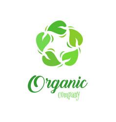 organic logo template farmer products company vector image vector image