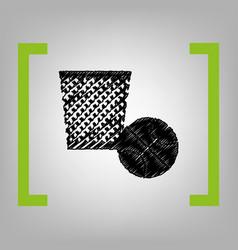 trash sign black scribble vector image vector image
