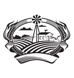 Agriculture landscape vector